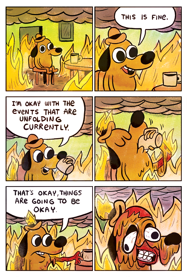 this is fine meme